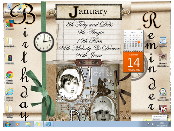 MAKE YOUR OWN CALENDAR FOR JUST £1 and EASILY MADE SCRAPBOOKS