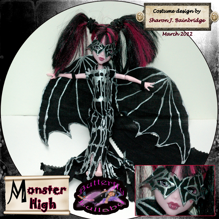 Draculaura dolls bat mask monster high now selling on ebay london mums magazine - Masque monster high ...