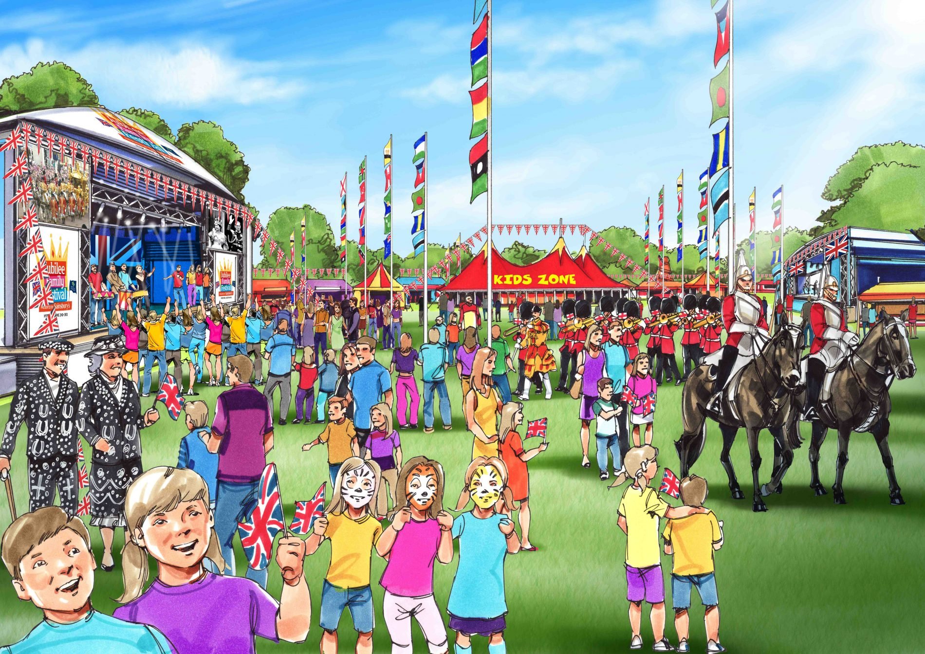 Win 1 family pass to the Jubilee Family Festival (London&#8217;s Hyde Park , Sat 2  Sun 3 June 2012)