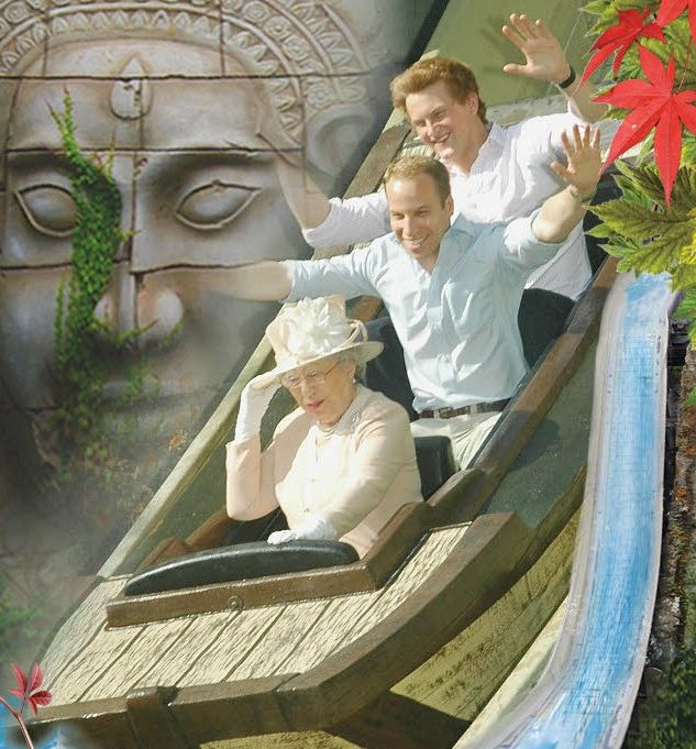'Royals' spotted at a fun park in London – What a Royal-a-coaster!