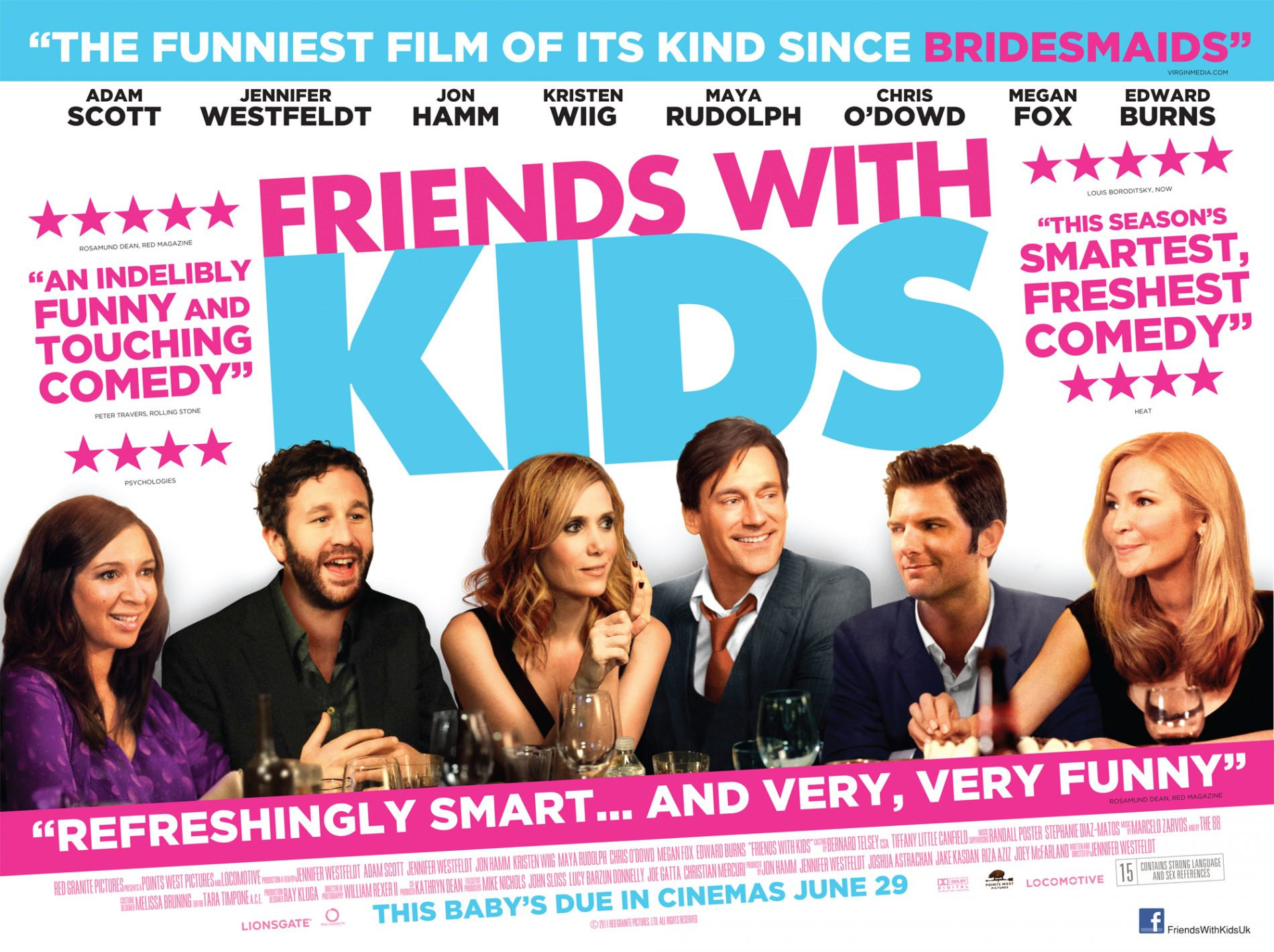 Win 1 of 6 Comedy DVDs courtesy of Friends With Kids ... Friends With Kids Poster