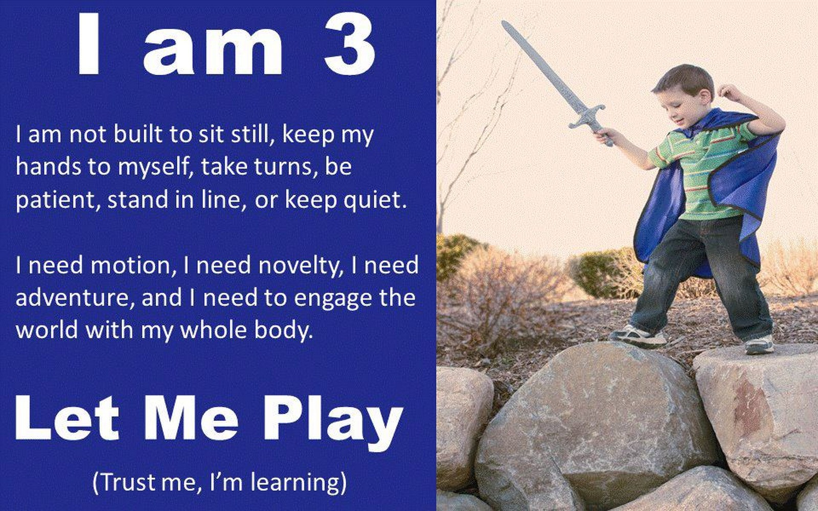 Let me play  (Trust me … I'm learning)