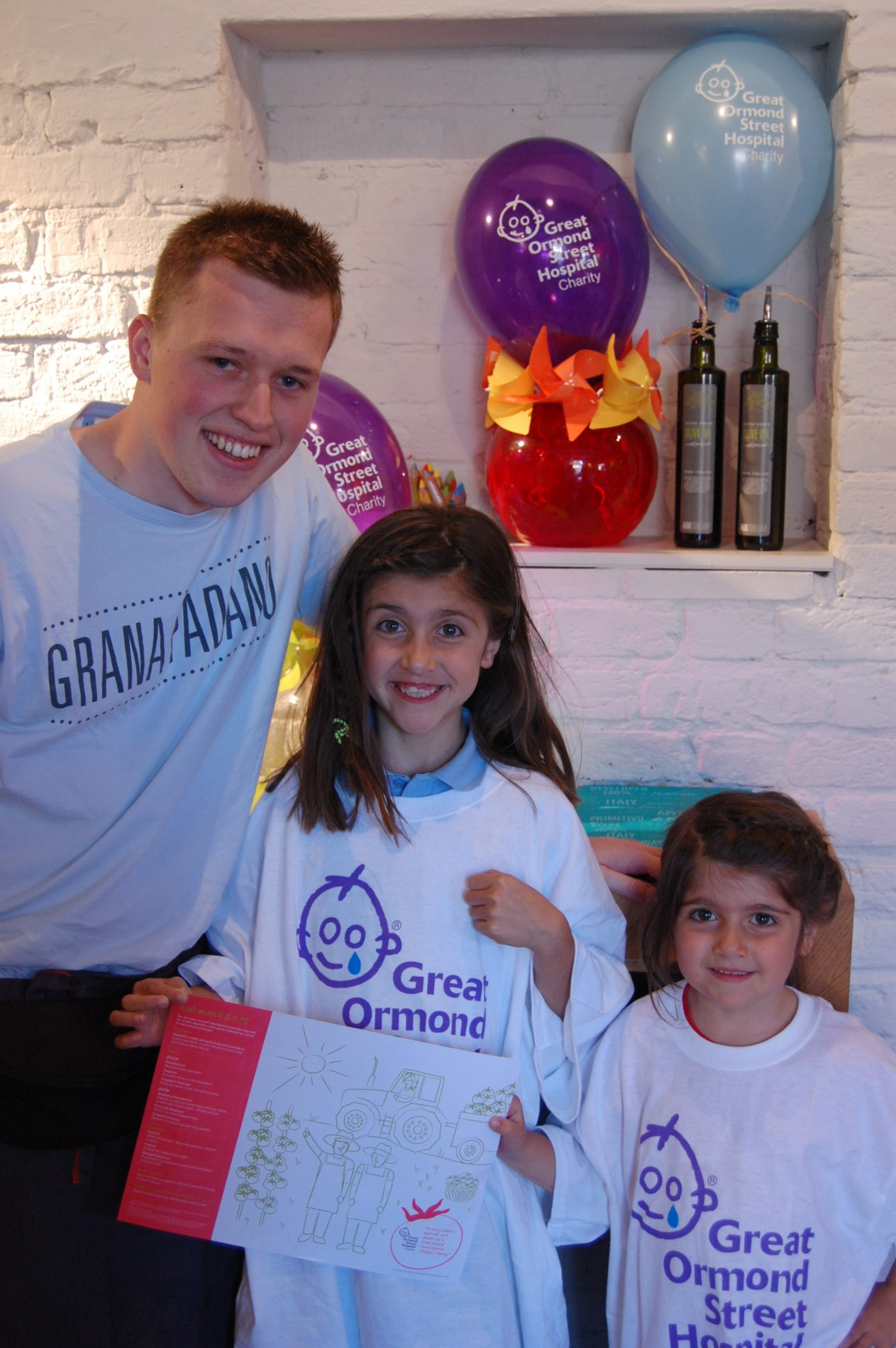 KIDS CAN ENJOY ITALIAN FOOD AND RAISE MUCH NEEDED FUNDS FOR GREAT ORMOND STREET HOSPITAL CHILDREN'S CHARITY