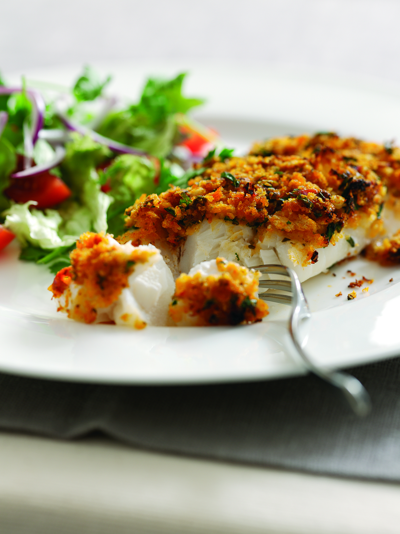 Recipe: Oven-Baked Cod with Organic Tomato Crust