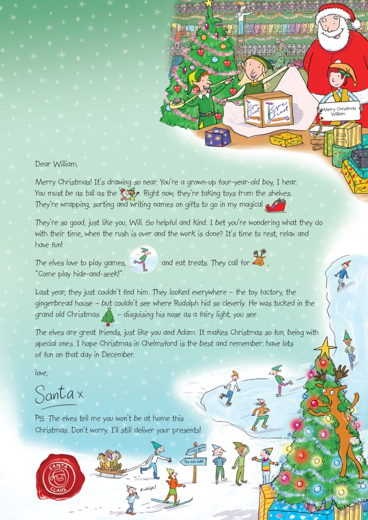 Letter To Santa Boarder | New Calendar Template Site