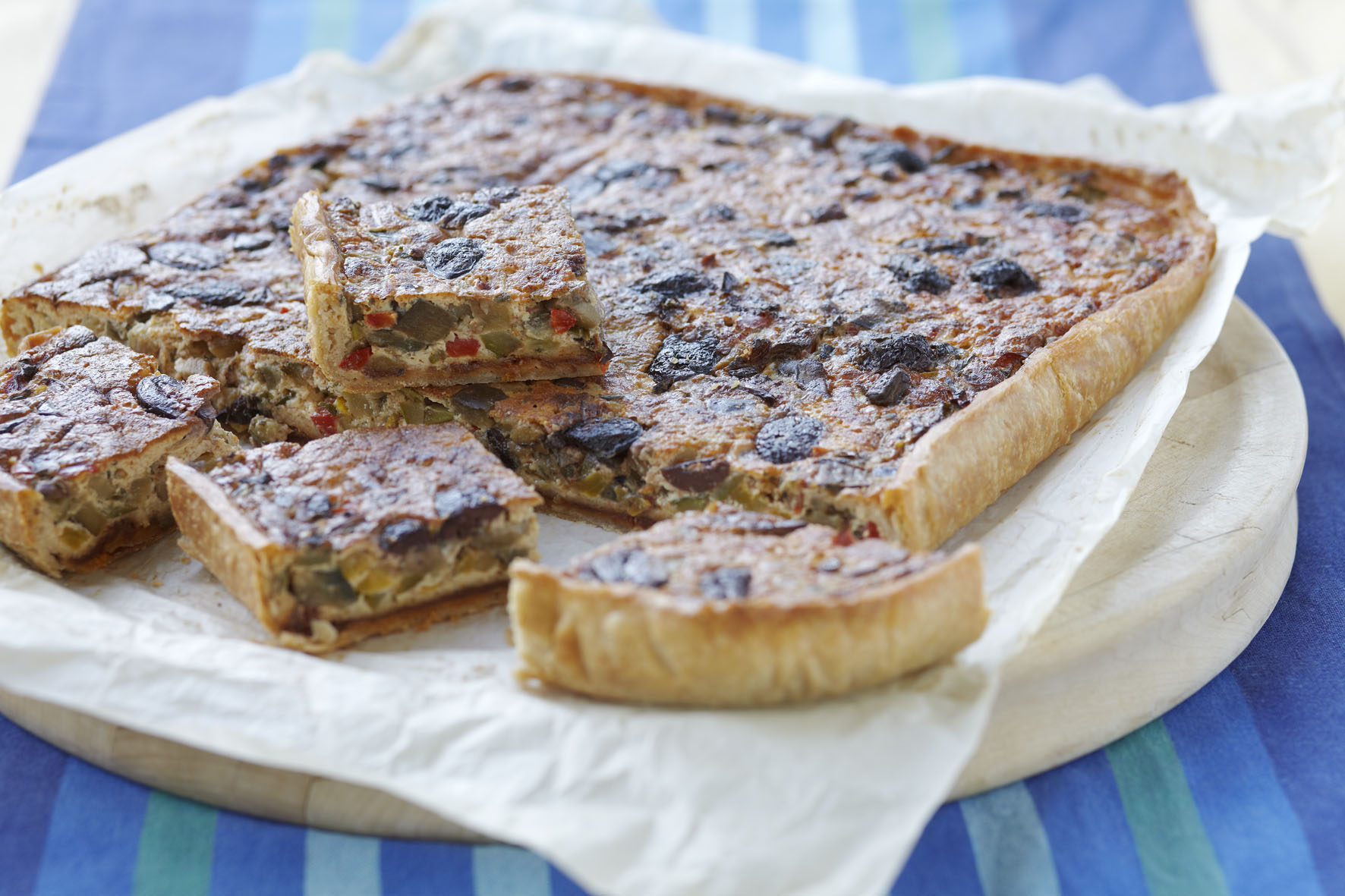 Recipe: Vegetable quiche, Mediterranean style