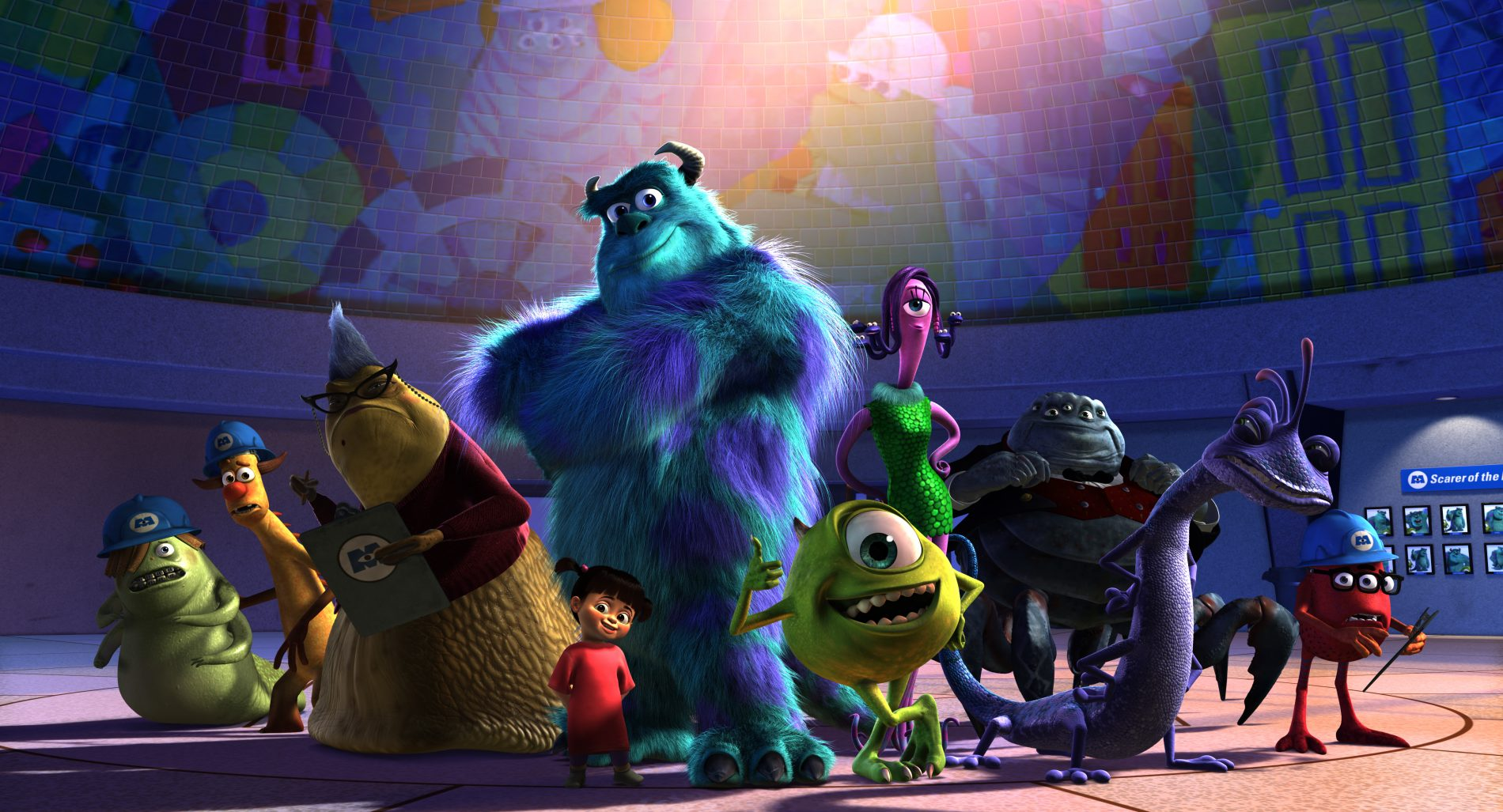 "Monsters inc "" is in cinemas—again— january 18 2013 and will"
