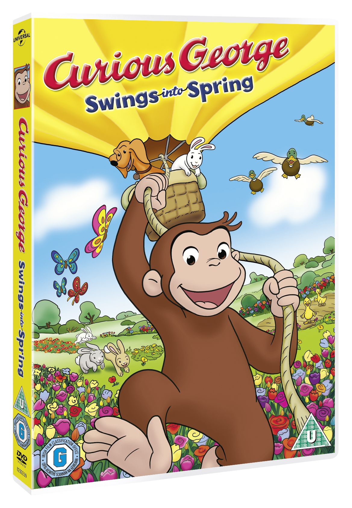 Win 1 of 3 copies of new DVD 'Curious George Swings into Spring'