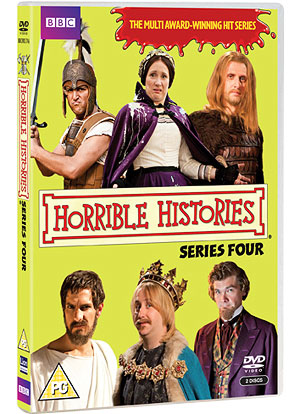 Win 1 of 10 HORRIBLE HISTORIES: SERIES FOUR DVDs