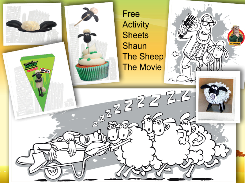 FREE ACTIVITY SHEETS from Shaun the Sheep The Movie & Big Hero 6 ...