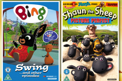 Bing and Shaun the Sheep DVD collage