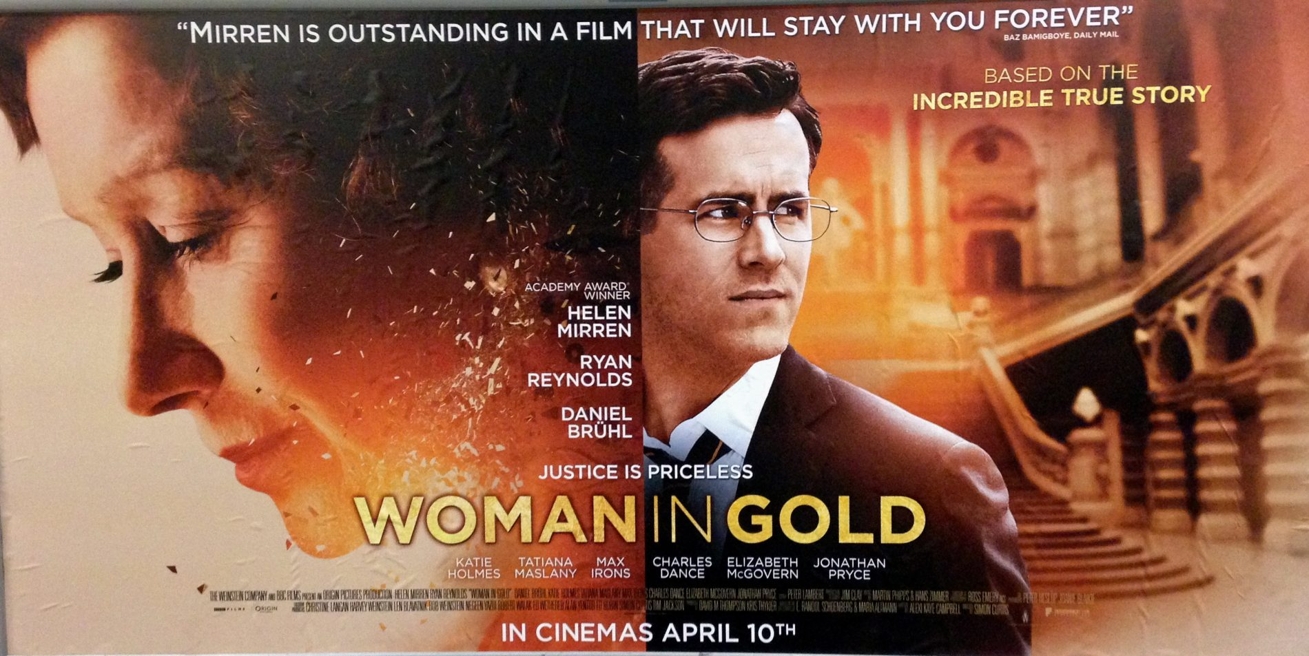 WOMAN IN GOLD is released in cinemas on 10th April 2015.