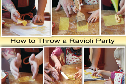 How to Throw a Ravioli Party collage