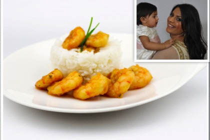 Mauritius Prawn Curry collage
