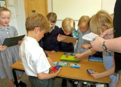Schoolchildren doing FunMats project (low res)
