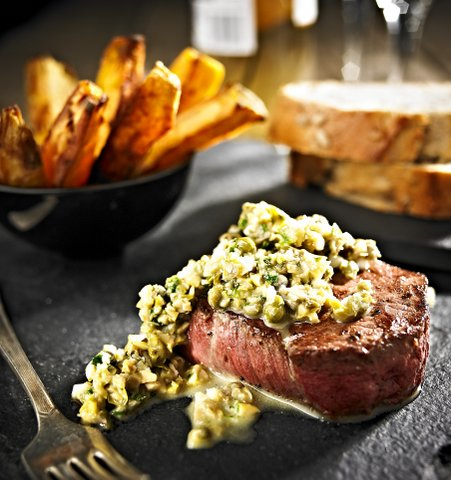 Fragata steak and green olive tapenade Valentine Menu copy