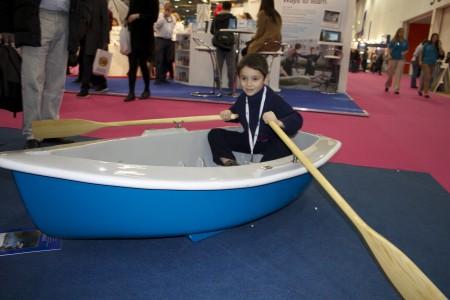 london boat show boat child