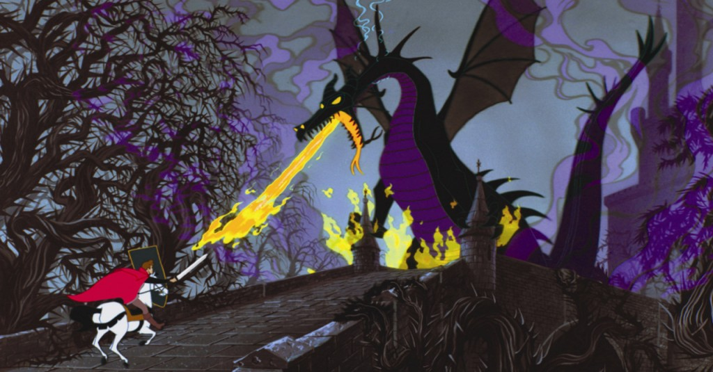 Maleficent sleeping beauty dragon