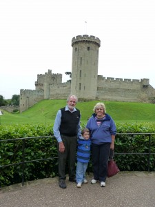 Warwick Castle with the grandparents