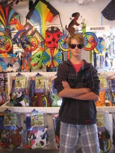 teenager on holiday