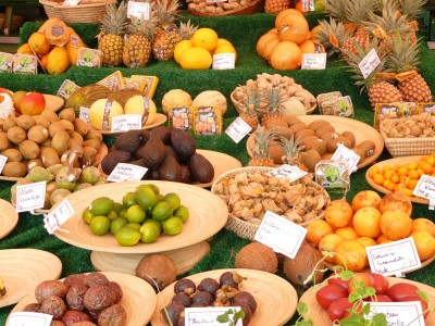 market healthy food eating