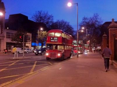 london driving at night