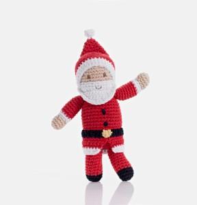 xmas Pebble fair trade Santa cotton crochet