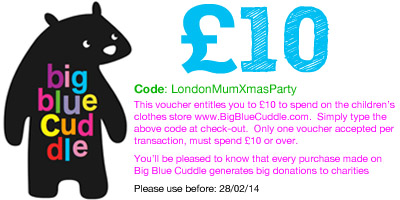 xmas party goody bag voucher LondonMumXmas_Nov13