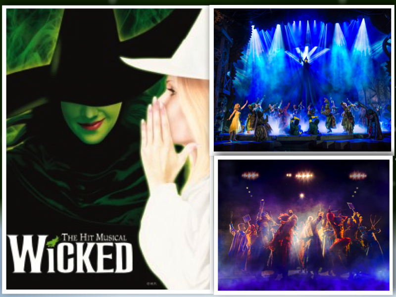 Wicked west end show London Mums collage