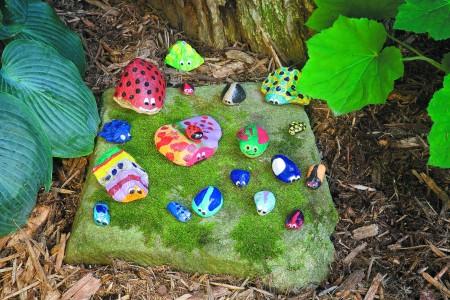 Gardening Lab for Kids Rock bugs