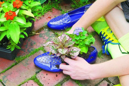 Gardening Lab for Kids Shoe Garden Project