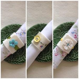 three napkin rings