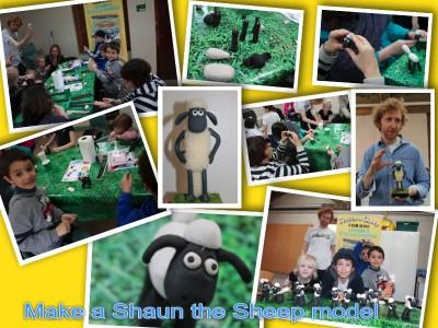 make a shaun the sheep model with Aardmab animator april 2014