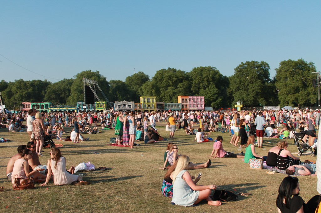 British Summer Time Festival in Hyde Park on family day