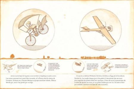book pilot illustration little print author page