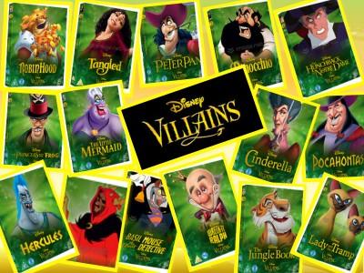 disney villains collage