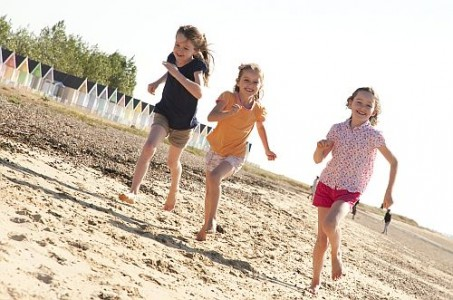 Great School Holiday Ideas From Visit Essex Children playing at Mersea Island r