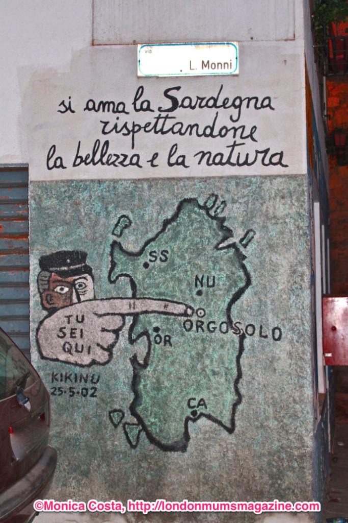 Orgosolo murales Sardinia travel with kids London Mums magazine 1