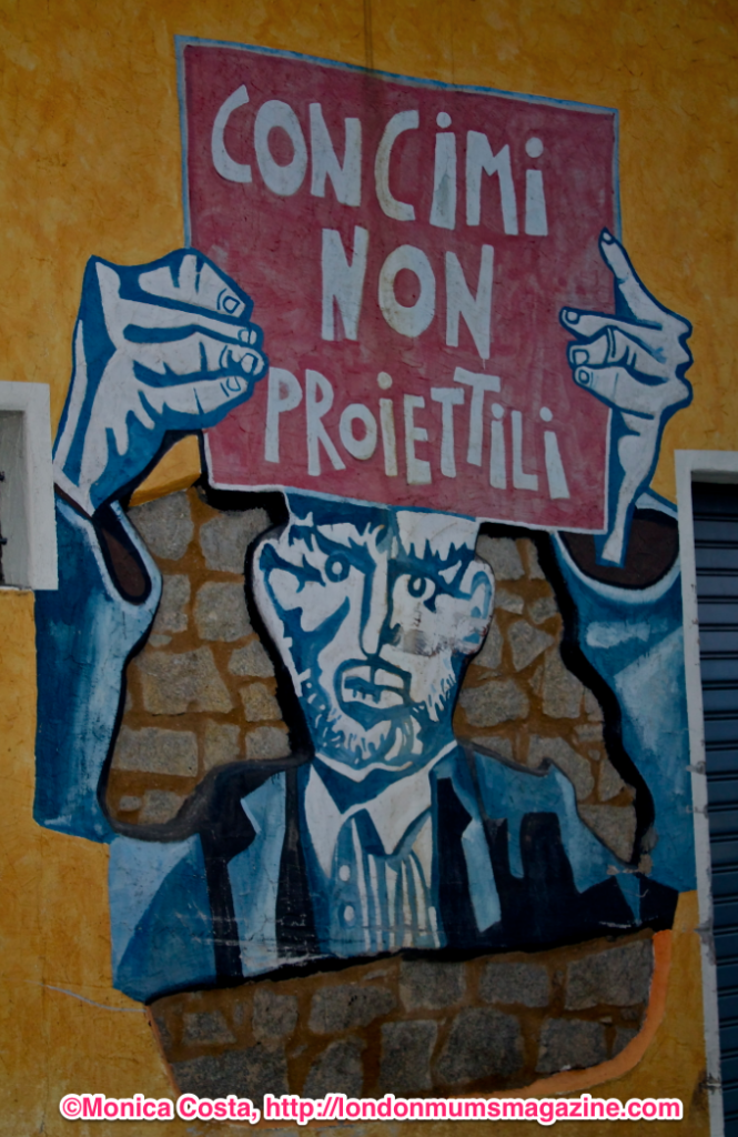Orgosolo murales Sardinia travel with kids London Mums magazine 16