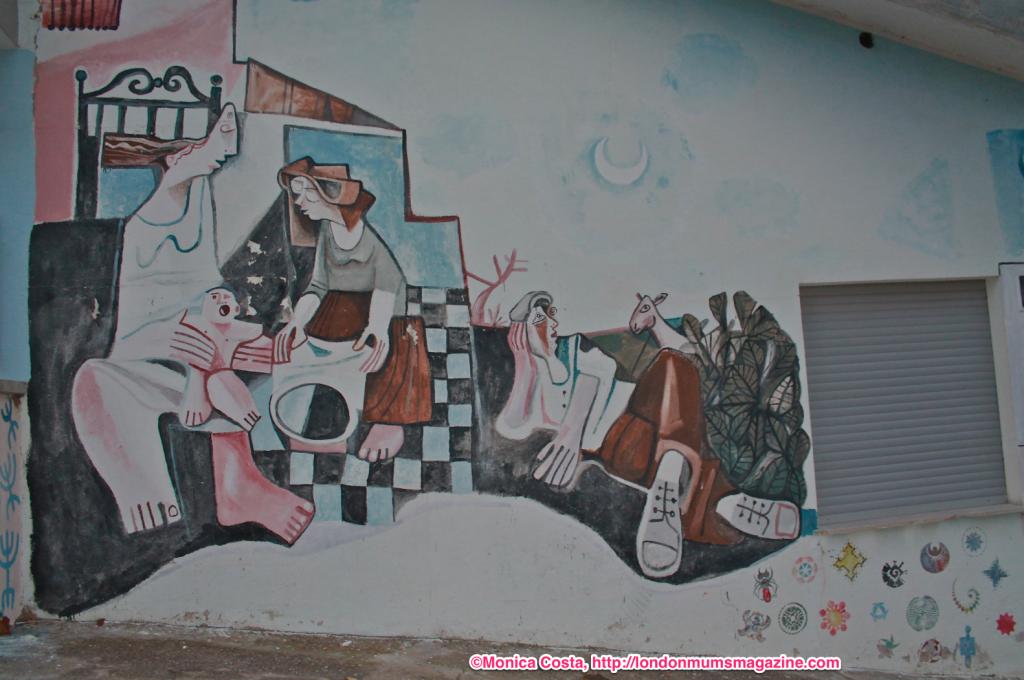 Orgosolo murales Sardinia travel with kids London Mums magazine 39