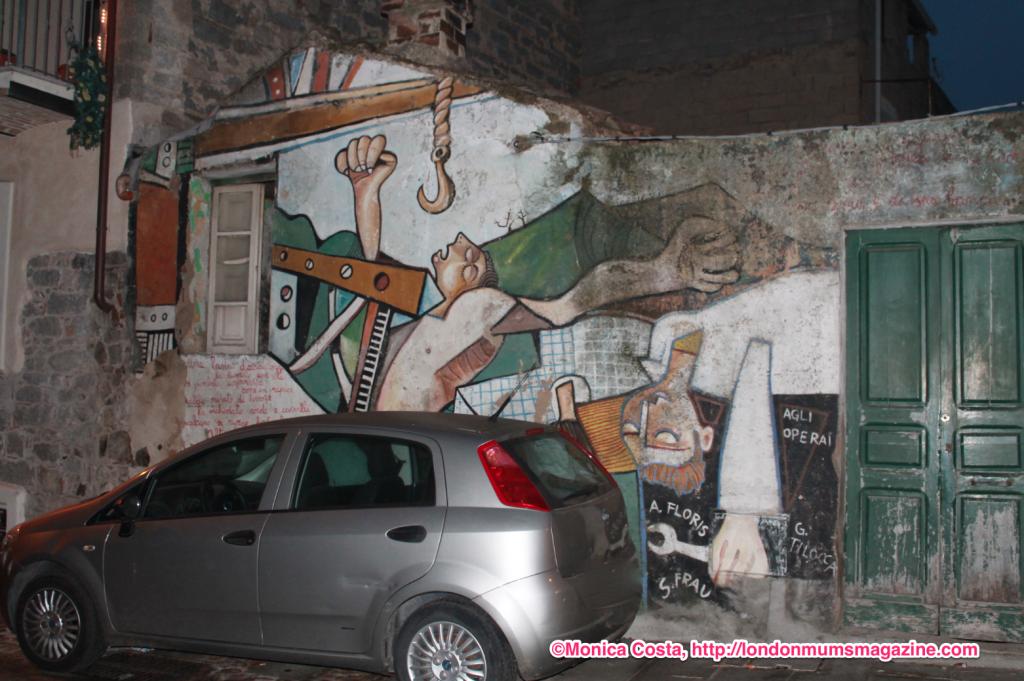Orgosolo murales Sardinia travel with kids London Mums magazine 4