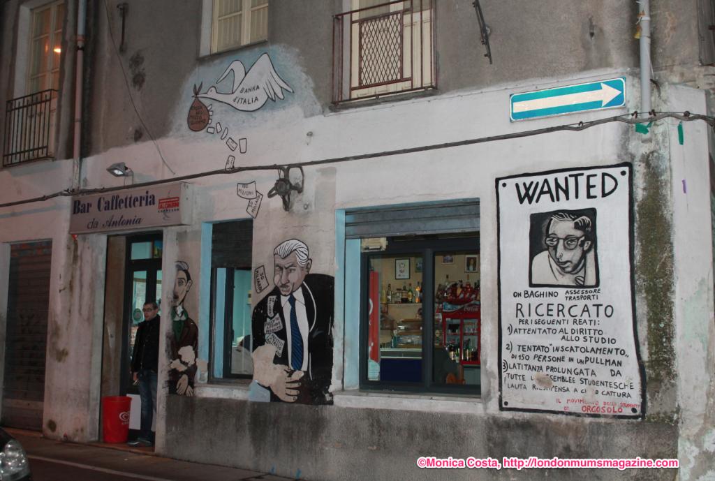 Orgosolo murales Sardinia travel with kids London Mums magazine 50