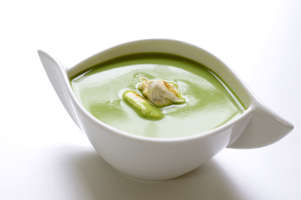 Parsley Soup with Chicken Nuggets