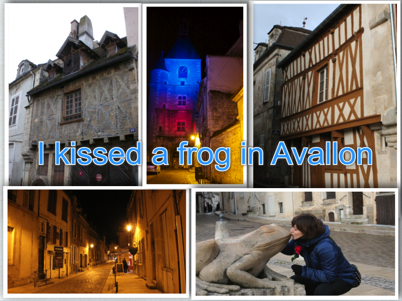 Avallon collage roadtrip to France