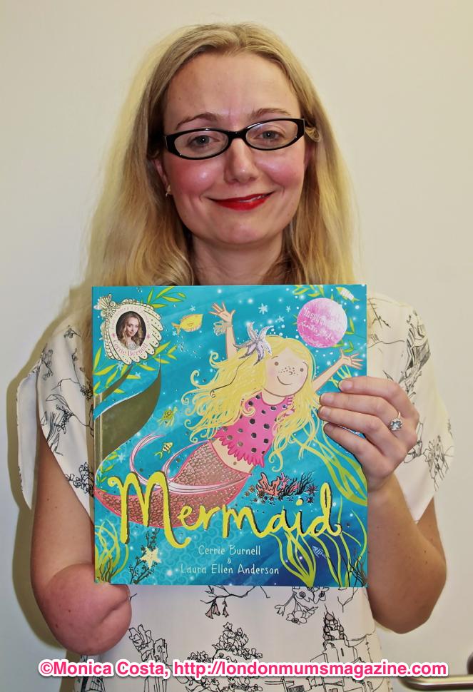 Carrie Burnell Mermaid book Scholastic London Mums magazine