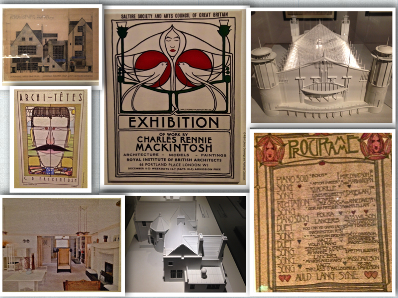 Mackintosh architecture exhibition collage
