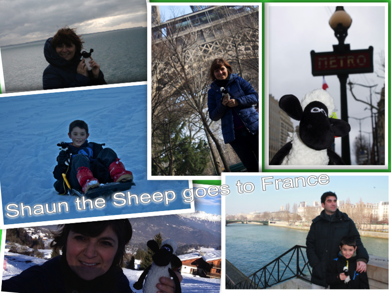 Shaun the Sheep goes to France collage