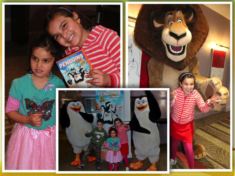 Amelie Chessington Penguins of Madagascar Movie collage
