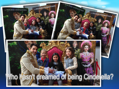 Cinderella Amelie girls and prince collage