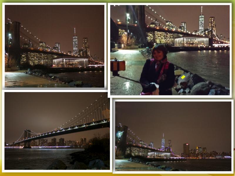 New York Brooklyn Bridge collage